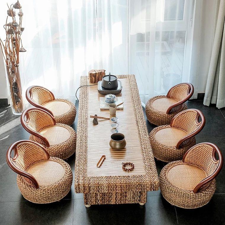 Garden Rattan sofa tea coffee set