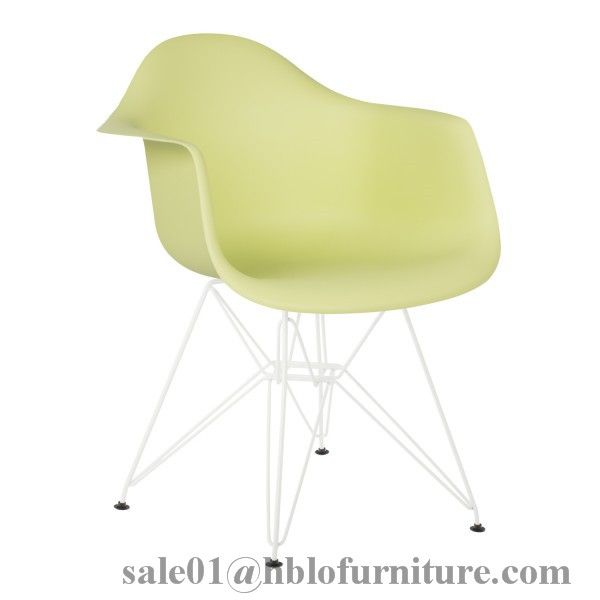 PP chair metal tube / wooden legs plastic dining chair