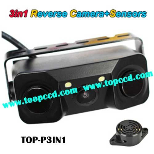 3 in 1 Car Reverse Camera parking sensor systems from TOPCCD (TOP-P3IN1)