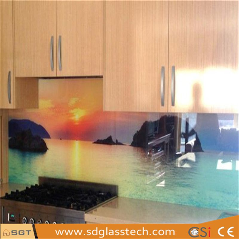 6mm Low Iron Toughened Printed Kitchen Splashbacks Glass