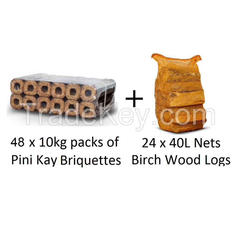 48 Packs PINI KAY + 24 Nets Birch Logs