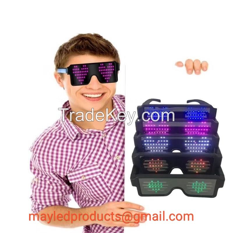 2018 The Latest LED Lighting Eyeglasses Party Glasses Event Items Night Club Favors Luminous Glasses With Fashion Style