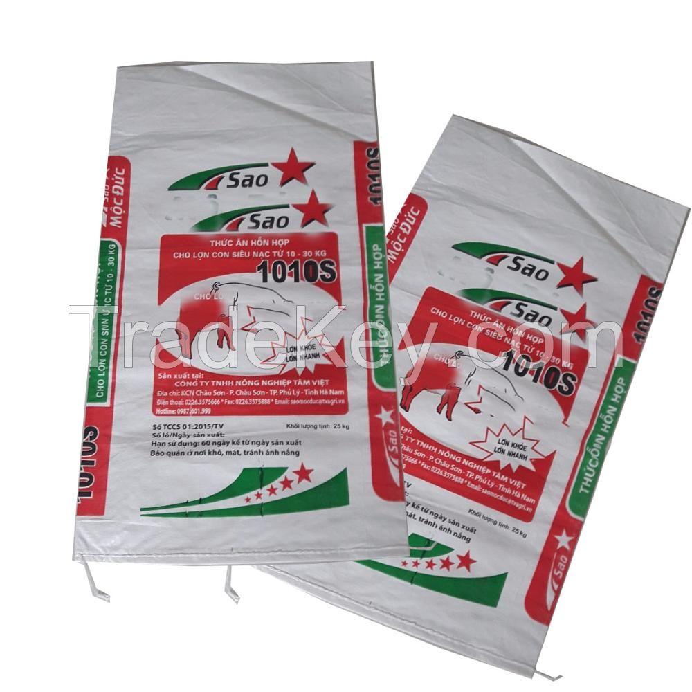 PP woven bag for grain sugar flour rice feed fertilizer laminated/ non laminated made in Vietnam