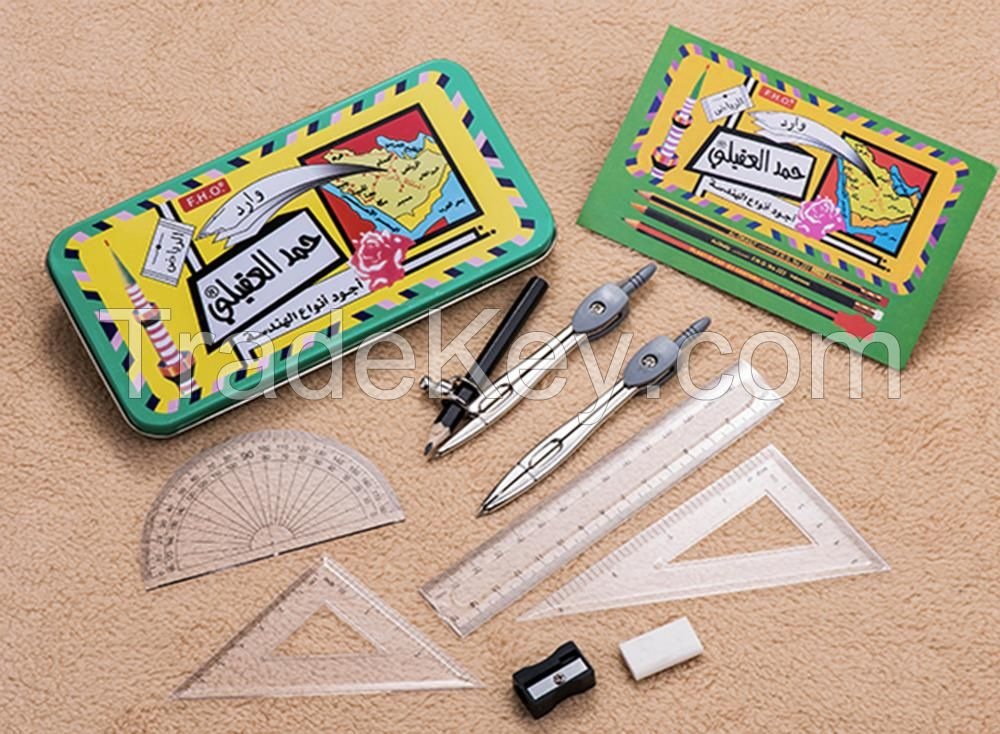 Geometry Compass Set ,Combination Compass Set for Solid and Plane Geometry Precision Tool for Drawing, Draft