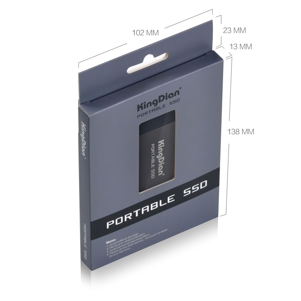 KingDian Poratable External 250GB SSD With USB Type-C Interface