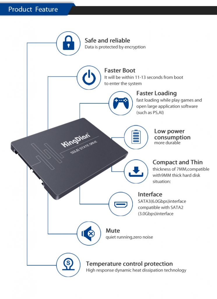 KingDian 2.5Inch 120GB Solid State Drive SSD For Laptop