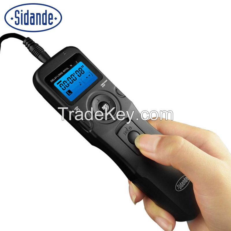 Sidande RST7100N Timer Timing Remote Control Shutter Release for Nikon D3500 D5300 D750 D610 D810 D800 D600 D90 D7000 D7100 Digital SLR Camera Accessories