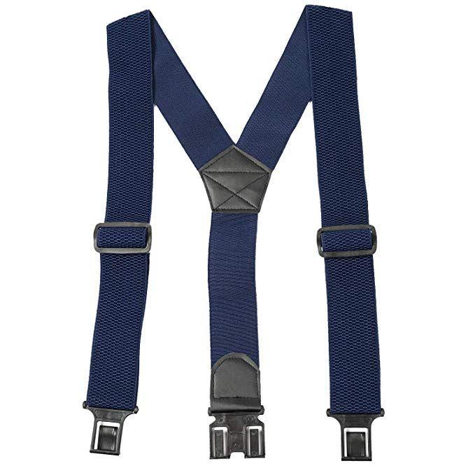 Y Back 2 Inch Plastic Hook-on Belt Heavy Duty Suspenders