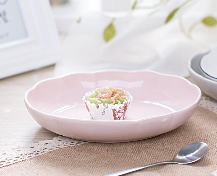 Ceramic tableware curry bowl dinner plate ceramic tea plate round creative dish plate stainless steel lunch box wholesales