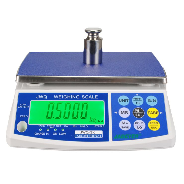 Jadever JWQ 30kg electronic weighing scale with RS232 interface Optional for PC or Printer