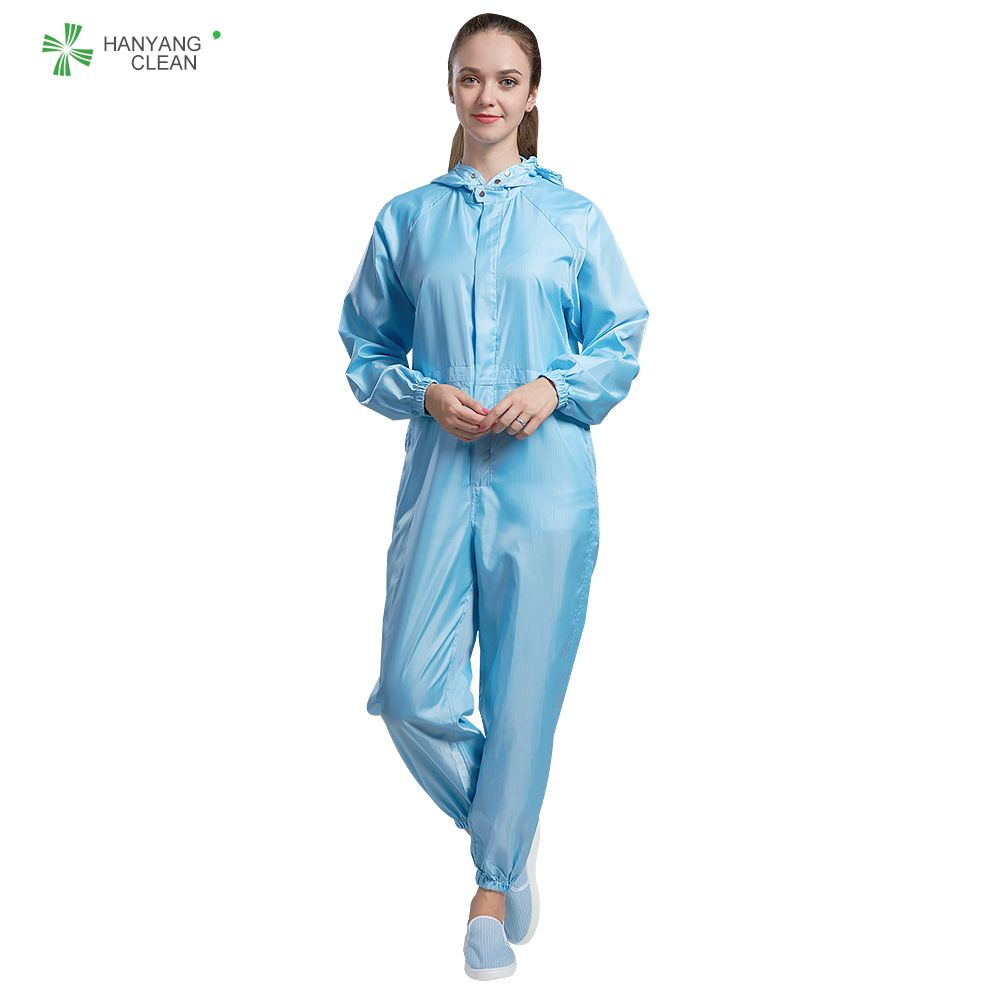 Pharmaceutical cleanroom antistatic coverall workwear esd uniforms