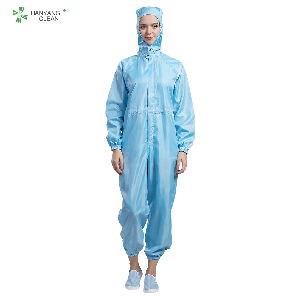 Autoclavable Cleanroom Antistatic garments stripe jumpsuits coveralls lab coats esd working clothes