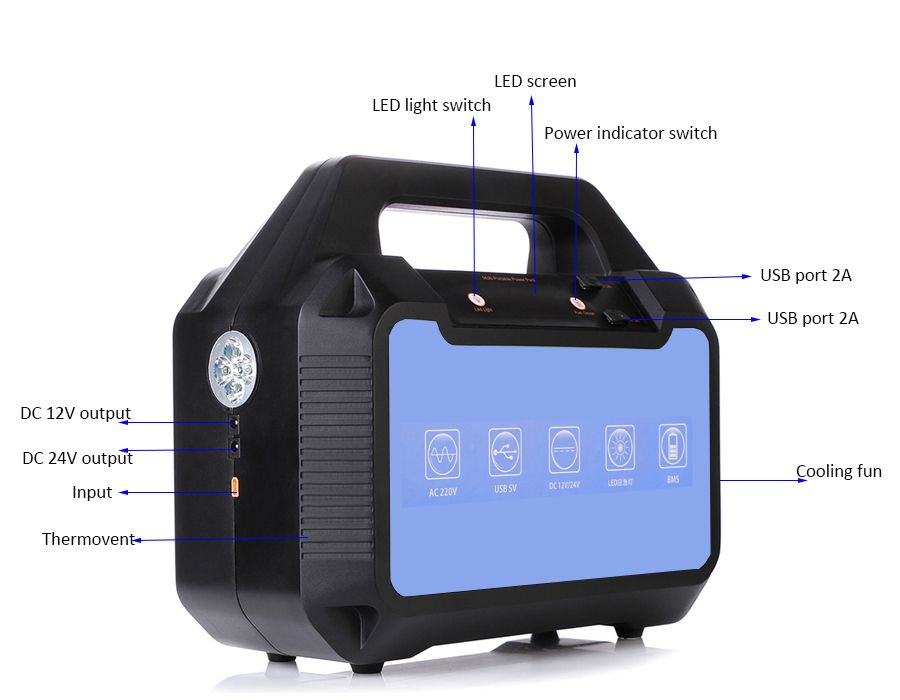 500W AC DC portable power generator FC-500PX with 624Wh li-ion battery