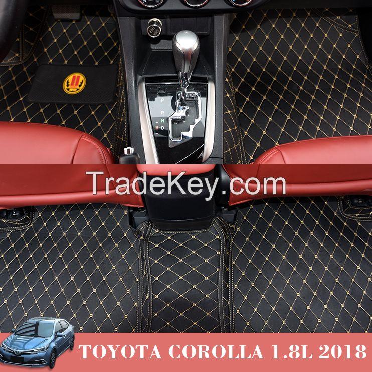 PVC Leather Auto Mats Stocklot for Toyota Corolla 1.8L 2018