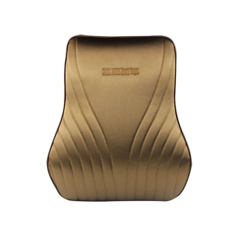 Car Headrest Lumbar Pillow Neck Back Support 100% Memory Foam Head Neck Seat Cushion with Ergonomically Design Soft Leather for Adjust Sitting Position Relief Neck Back Pain Muscle Tension