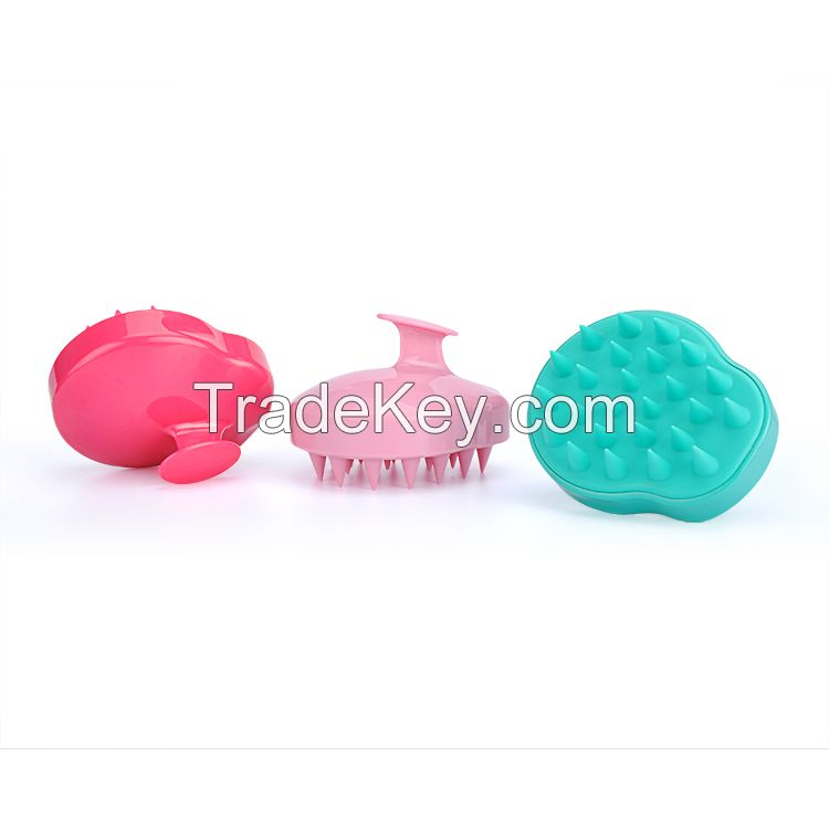 Custom Private label Silicone Shampoo Scalp Massage Round Detangling Hair Brush