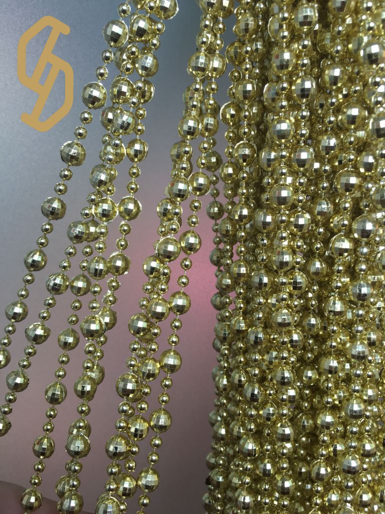 best selling Christmas decoration  beads chain  3mm plastic beads chain  roll