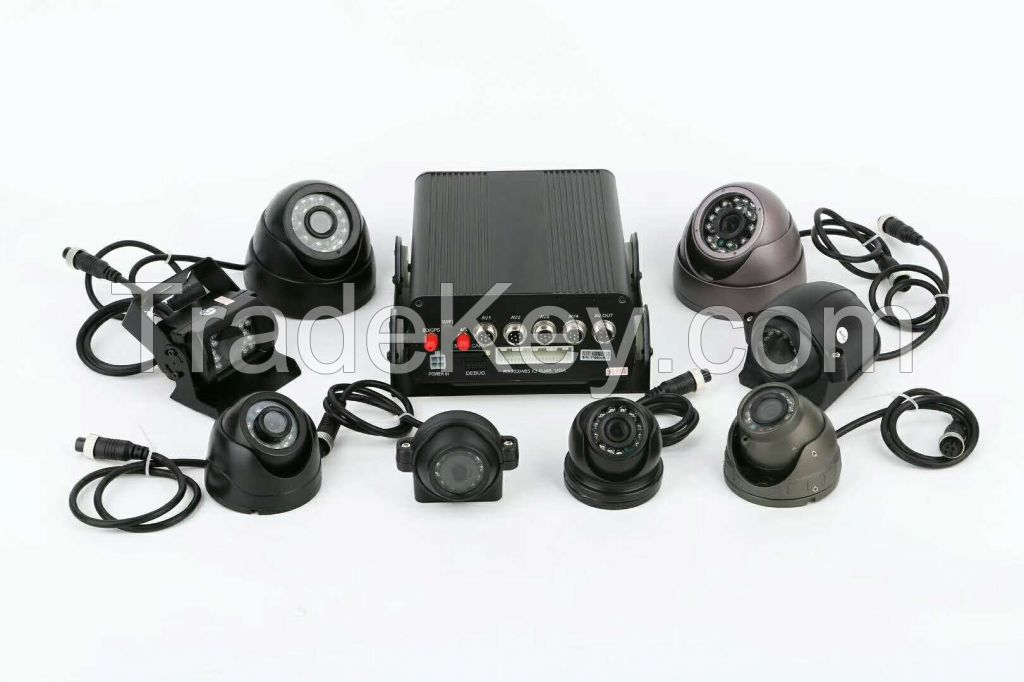 Vehicle Mobile DVR 720p 4CH HDD/SSD with GPS 3G 4G G-Sensor Wi-Fi