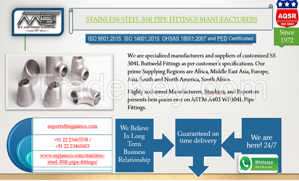 stainless steel 304l pipe fittings manufacturers