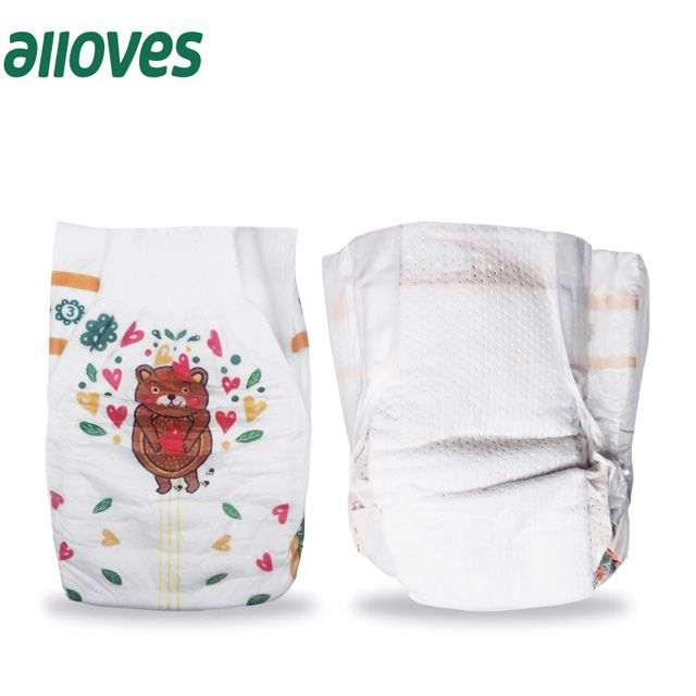China Factory Non Woven Fabric Material and Disposable baby Diaper Type On Free Sample
