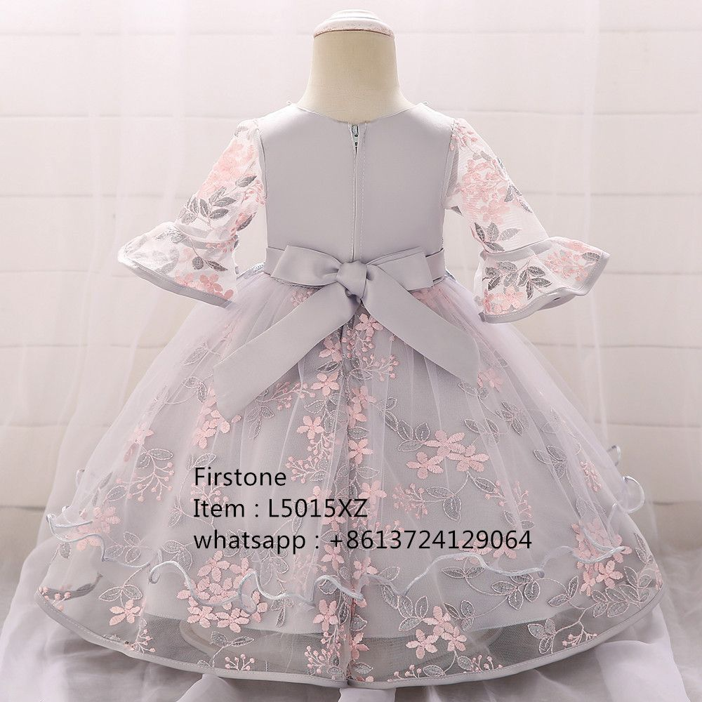 0-2 Years Old Newborn Baby Girl Flower Dress Mini Summer Frock Kids Party Clothes L5015XZ
