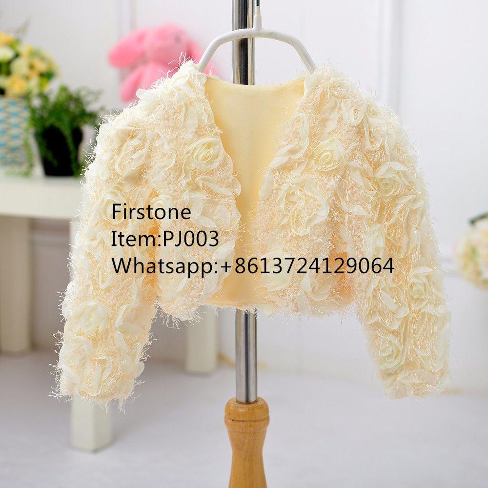 China Factory Wholesale Winter Jacket Baby Girl Children Outwear Bolero PJ003