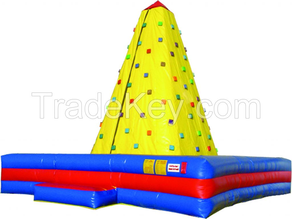 Outdoor sports training inflatable climbing wall, inflatable rock wall