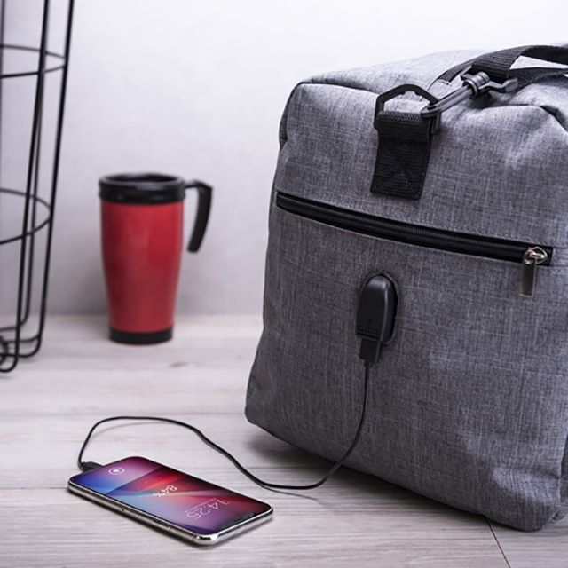 Wholesale durable roomy gym sport travel bag with shoes compartment USB charge