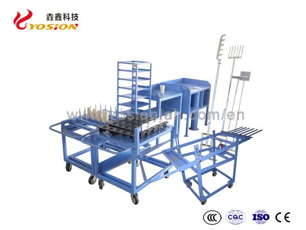 Frie Assay Tools/pouring mould/cupel fork/port tong/port tray/port loader/ port bench/pouring trolley/cupel cooling rack/hydralic aerial platform