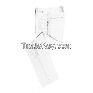 White Classic Fit Twill Business Suit Trouser