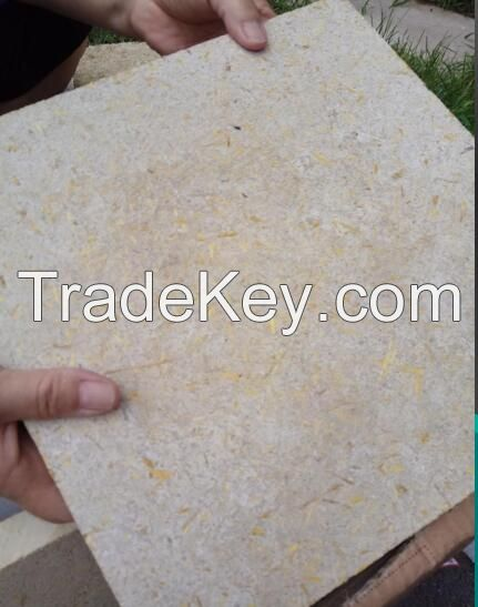 Inorganic gelatinous plant fiberboard