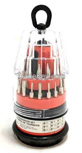 Multi functional magnetic precision screwdriver set