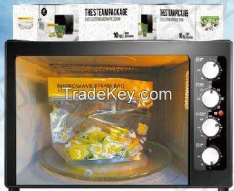 Reusable microwave steam bag
