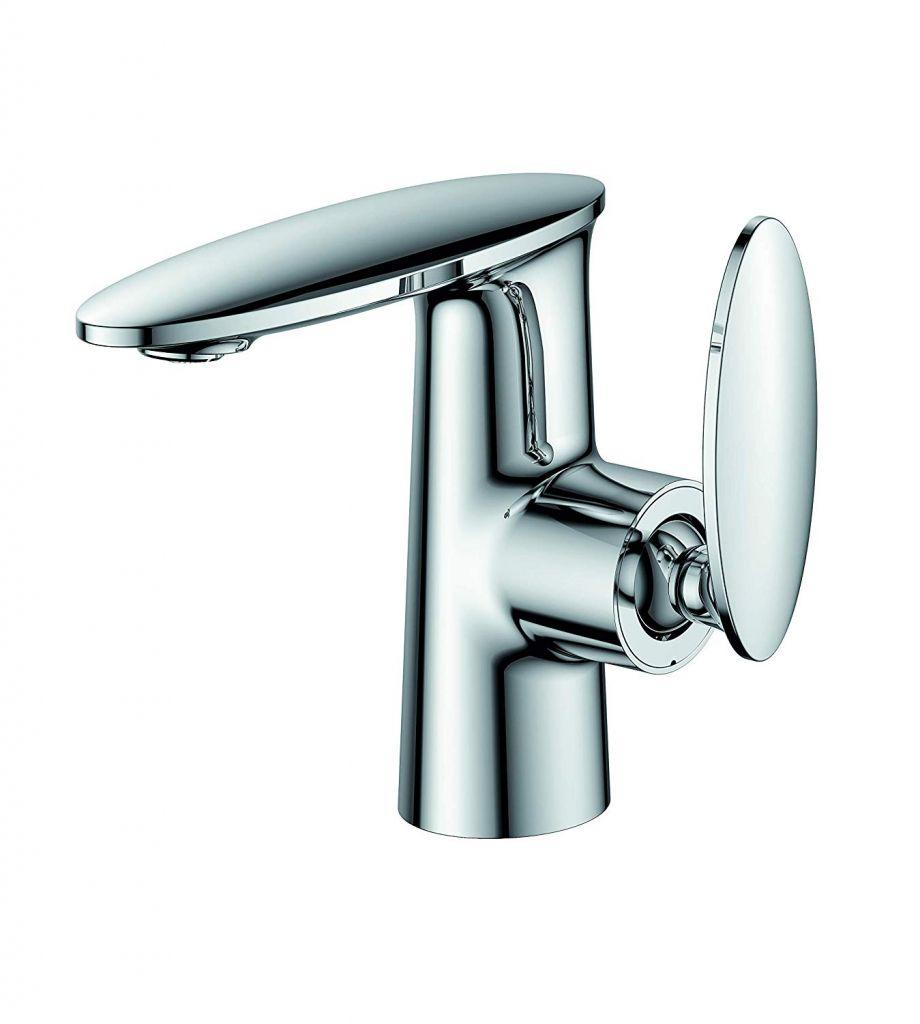 Kawin Bathroom Single Lever Basin Faucet Cold and Hot Water Tap Ceramic Cartridge Hose Chrome