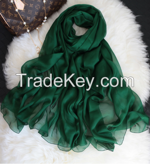 100% mulberry silk scarves