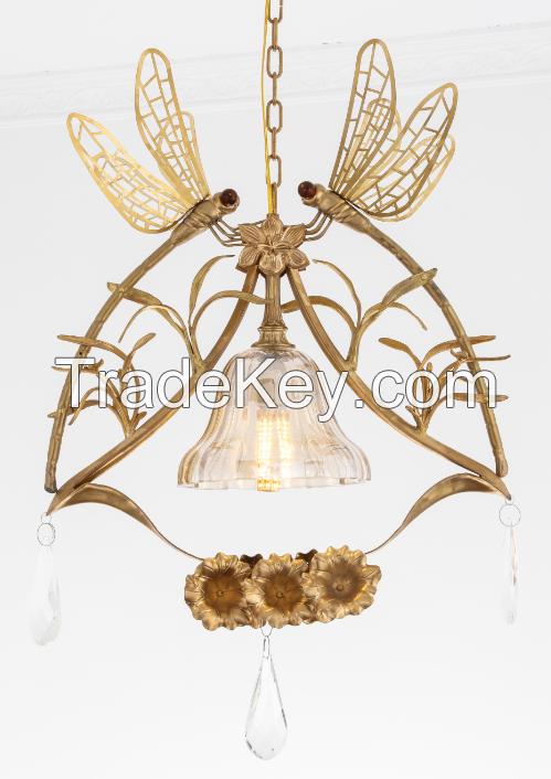 Art Nouveau Bronze lighting