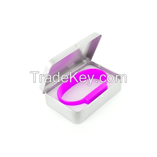 High popular corperation give-away slim promotional USB wristbands
