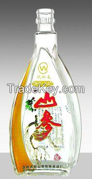 High white Glass Bottle
