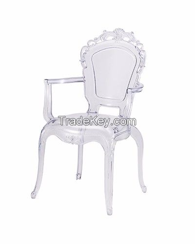 wholseale high quality cheap morden design colorful pp dining ghost chair
