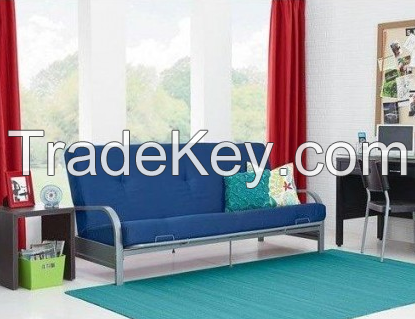 Sofas-Bedroom Furniture-Premium Full Size Metal Arm Frame With Blue Mattress-Couches And Sofas-Bring Contemporary Style And Functionality To Any Room-Guaranteed!