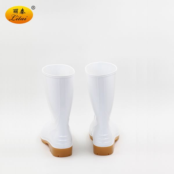 White Light PVC Wellington Boots for Workers