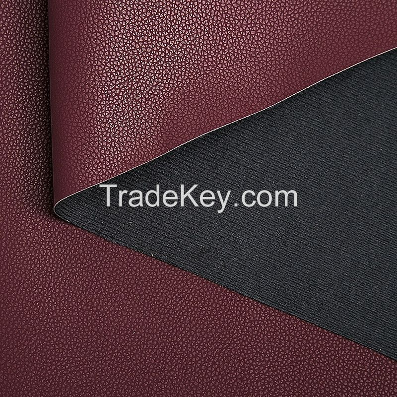 Eco-friendly New Custom textiles leather products faux synthetic leather fabrics sofa pu leather