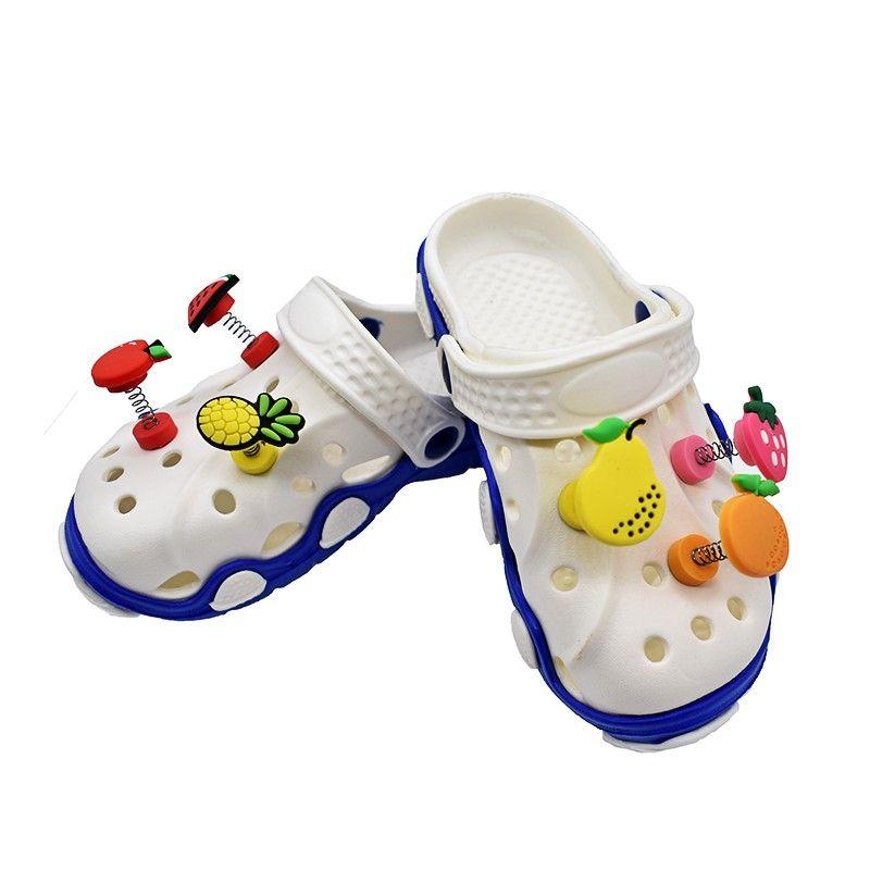 Custom New trend Spring Rainbow Soft PVC Shoe Charm for Kid Croc Shoe decoration