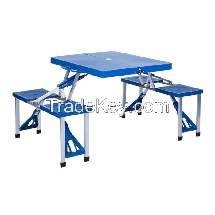 PORTABLE FOLDING DURABLE PICNIC TABLE + 4 CHAIRS