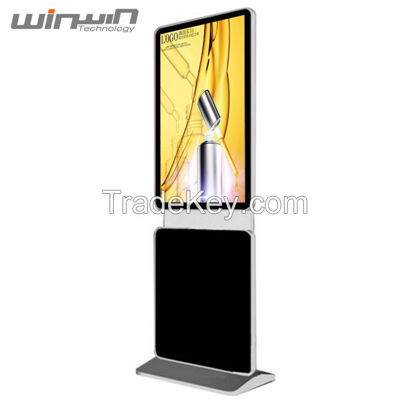 High Quality 43inch Rotating Advertising Display Floor Standing Totem for Shopping Mall