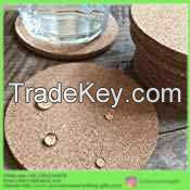 Custom logo printing cheap promotional price wholesale cork coasters
