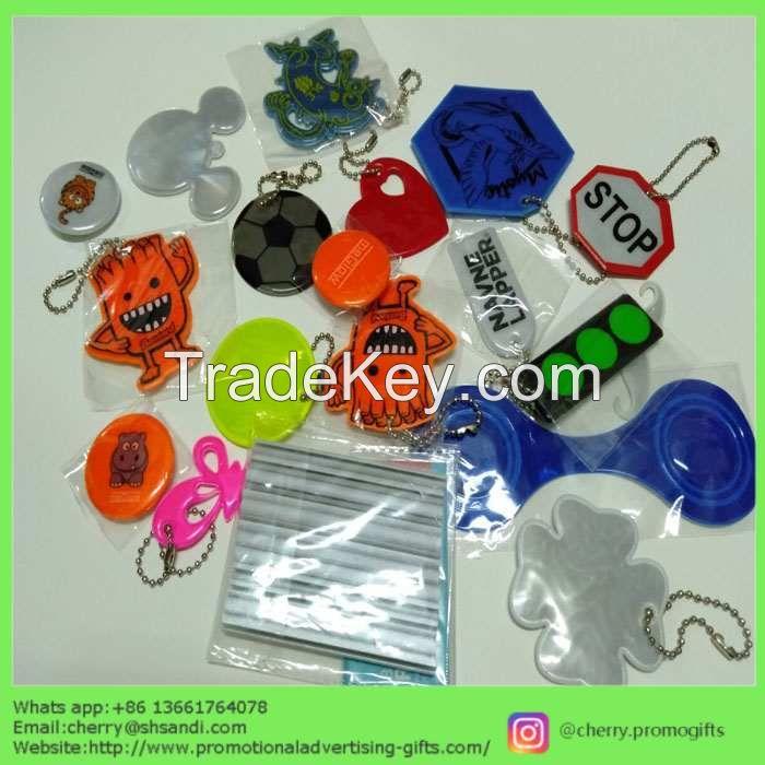 PVC safety reflective keychain