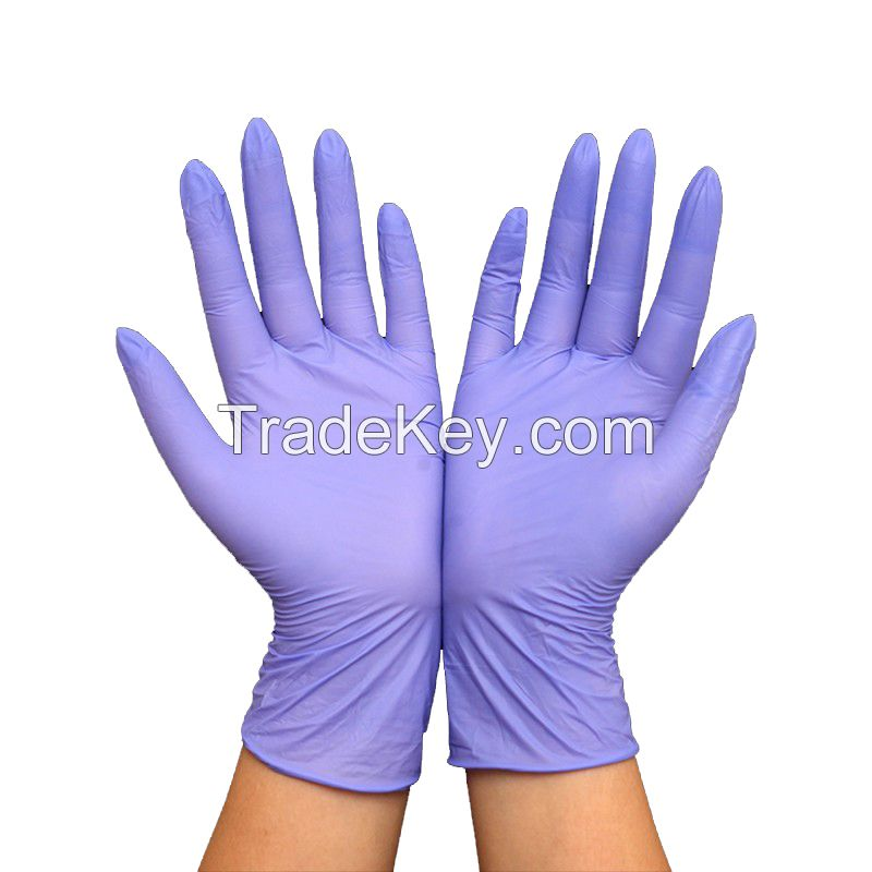 Disposable surgical sterile powder free nitrile gloves disposable medical