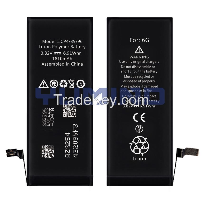 Replacement Brand new Lithium-ion Rechargeable Pure Cobalt Battery For iPhone 6G