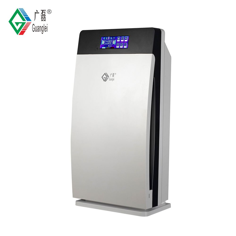 Touch screen negative ion ozone HEPA air purifier